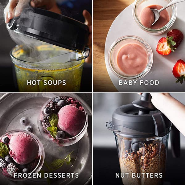 Different kinds of dishes processed with Vitamix Blenders