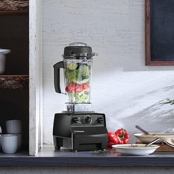 Chopped vegetables ready for blending using Vitamix 5200 Professional Blender