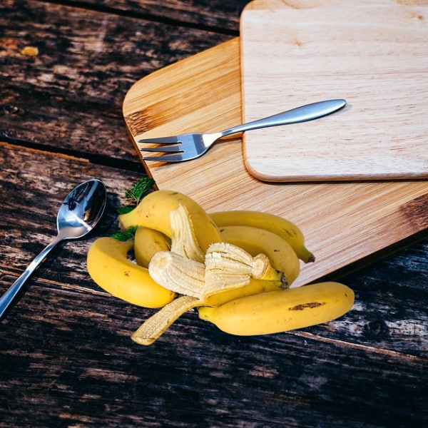 Bananas and chopping boards