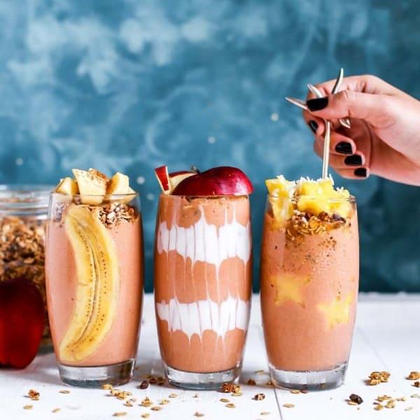 Glasses of blended smoothie using Ninja Professional BL660 Blender