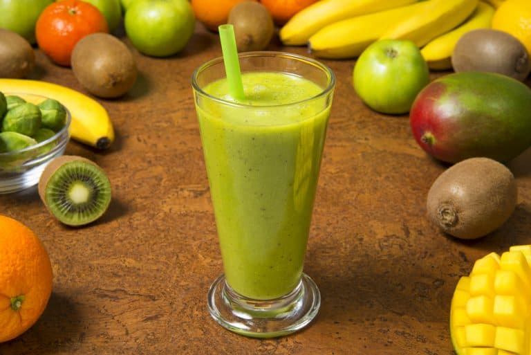 Mango Banana Spinach Breakfast Smoothie