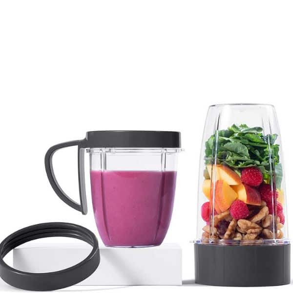 A pair of nutribullet blender cups