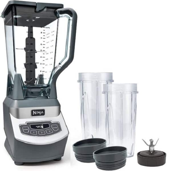 Assembly of a Ninja blender includes a manual on steps how to use it
