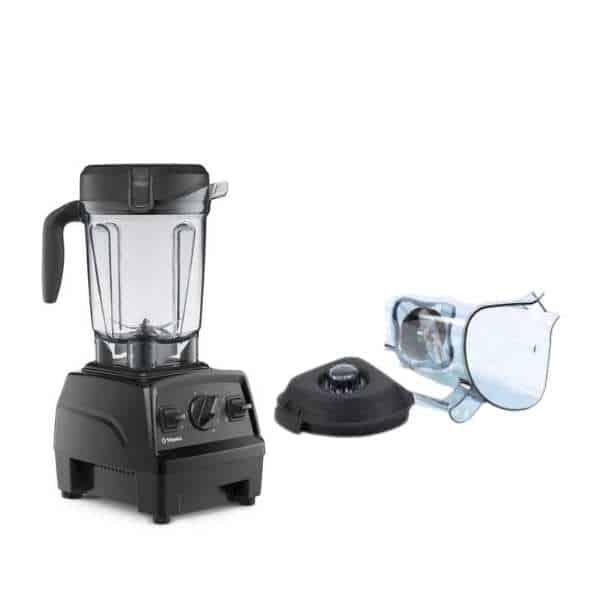 Vitamix blender and a lid plug after wash