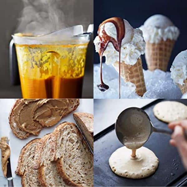 Dough, ice cream, butter, hot soup made from Vitamix 5200 and Vitamix E320