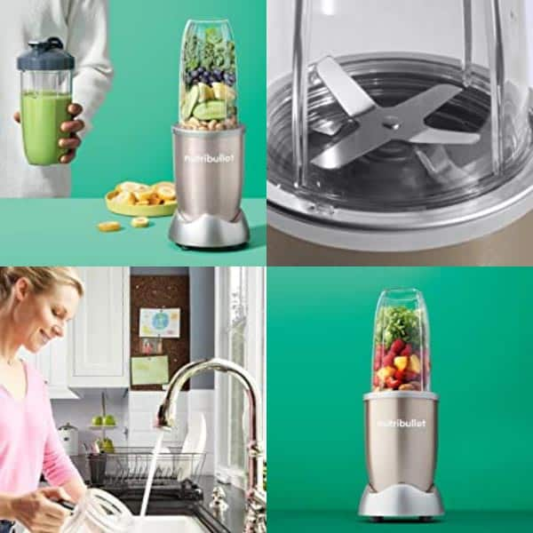 Nutribullet 600 features in a photo collage